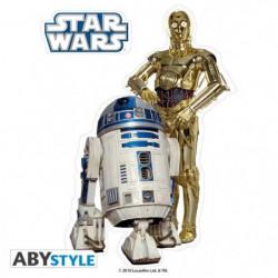 Stickers Star Wars - 16x11cm  / 2 planches - R2-D2  / C3PO