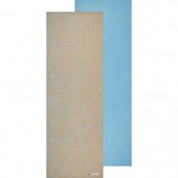 AVENTO Tapis de yoga finition jute 6 mm - Bleu