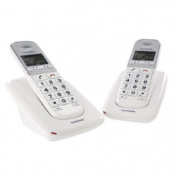 TELEFUNKEN duo Téléphone senior grosses touches TD 352 PILLOW
