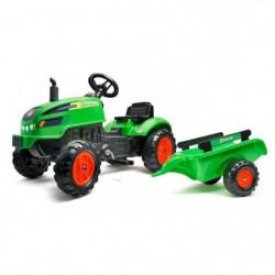 FALK - Tracteur a pédales X Tractor vert avec capot ouvrant