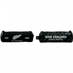 ALL BLACKS Trousse Ronde 1 Compartiment Fermeture Zip
