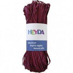 HEYDA Raphia végétal - Bordeaux - 50g