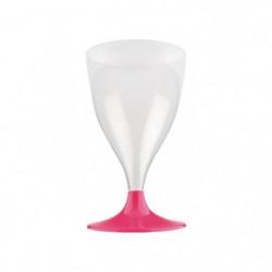 Lot de 6 verres a eau ou a vin jetables 20 cl rose hortensia
