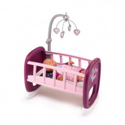 SMOBY Baby Nurse Berceau A Barreaux + 1 Mobile