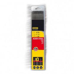 STANLEY 460816  Lot de 50 électrodes rutiles acier - Ø 1,6 m