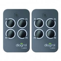 DIAGRAL BY ADYX Lot de 2 télécommandes 4 touches