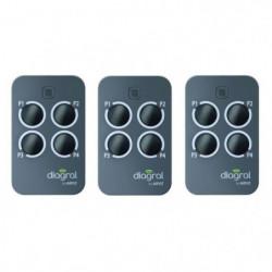 DIAGRAL BY ADYX Lot de 3 télécommandes 4 touches