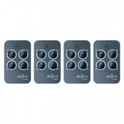 DIAGRAL BY ADYX Lot de 4 télécommandes 4 touches