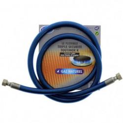 Tuyau flexible pour gaz naturel triple sécurité Vissinox