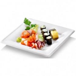 NATURESSE - N128-6 - 6 Assiettes carrées  Karo - Canne à sucre