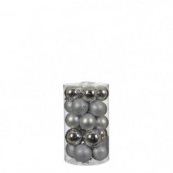 Boule incassable argent 23 pieces - d8cm