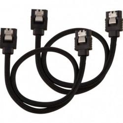 CORSAIR Câble gainé Premium  SATA 6Gbps Noir 30cm Droit