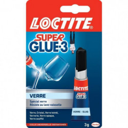 Super glue 3 spécial verre Loctite - Tube 3 g