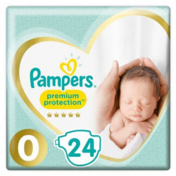 Pampers Premium Protection Taille0, 24Couches