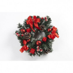 Couronne de Noël en PVC - Ø 30 cm - Rouge