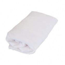 DOMIVA LOT 2 Draps-housse BAMBOU 70x140 cm Blanc