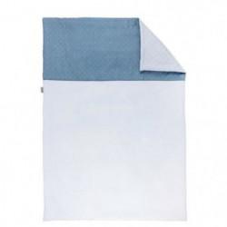 NATTOU - Pure Bleu Couverture Coton 100x135cm