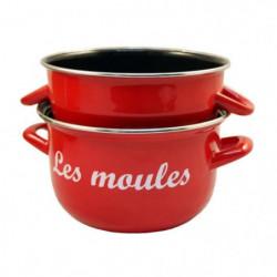 BAUMALU Marmite à moules - 24 cm - Rouge marquage