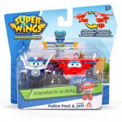 SUPER WINGS Pack de 2 figurines transformables Transform-a-bot