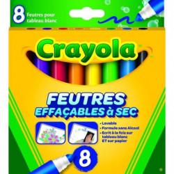 Crayola - 8 Feutres effaçables à sec - boîte française