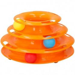 Jouet tour spirale - 3 balles inclues - 35 x 13,5 cm