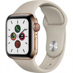 Apple Watch Series 5 Cellular 40 mm Boîtier en Acier Inoxydable