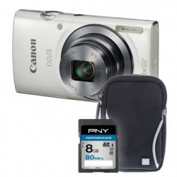IXUS 160 blanc + sacoche + carte 8Go - Appareil photo compac
