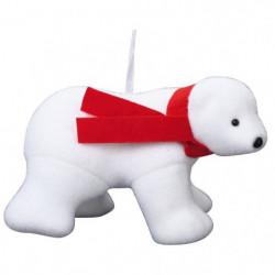 Animaux de Noël : Ours 4 pattes premier prix avec écharpe