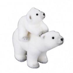 Animaux de Noël : Maman et bébé ours - H 30 x l 36 x 17 cm