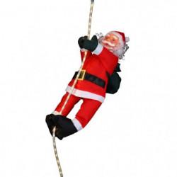 Personnage de Noël Pere Noël grimpeur sur cordon lumineux 60cm
