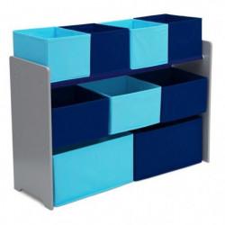 DELTAKIDS - Meuble de rangement 9 casiers - Jouets en bois