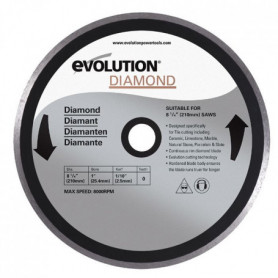 EVOLUTION Disque diamant FURY 210 mm