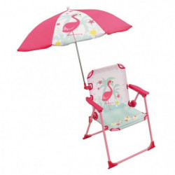 FUN HOUSE Chaise Parasol Flamant Rose Pour Enfant