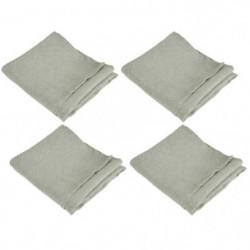 VENT DU SUD 4 Serviettes de table SYMPHONIE en lin - 50 x 50 cm