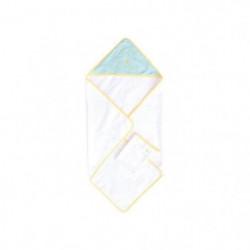 DOMIVA Coffret sortie de bain + gant brodé - Demi lune
