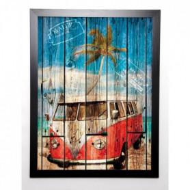 BRESSO Image encadrée La Playa 57x77 cm Bleu
