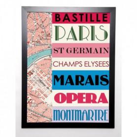 BLONDE ATTITUDE Image encadrée Paris bastille 57x77 cm