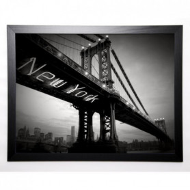 BLONDE ATTITUDE Image encadrée New York Bridge 57x77 cm