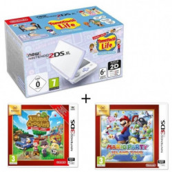 New 2DS XL Blanc/Lavande + animal crossing + mario party island tour
