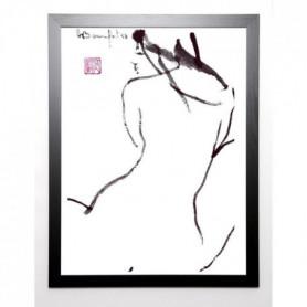 BONNEFOIT ALAIN Image encadrée Jim 67x87 cm Blanc