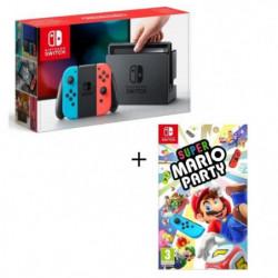 Console Nintendo Switch Néon + Super Mario Party