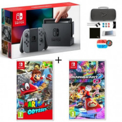 Pack Nintendo Switch Grise + Super Mario Odyssey + …