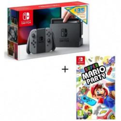 Pack Nintendo Switch Grise Edition Limitée + Super Mario Party