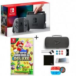 Pack Nintendo Switch Grise + Super Mario Bros U Deluxe + …