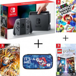 Pack Nintendo Switch Grise + Dragon Ball FighterZ