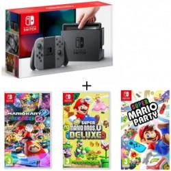 Pack Nintendo Switch Grise + New Super Mario Bros U Deluxe + …