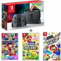 Pack Nintendo Switch Grise Ed.Limitée + New Sup.Mario BrosU