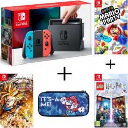Pack Nintendo Switch Néon + Dragon Ball FighterZ