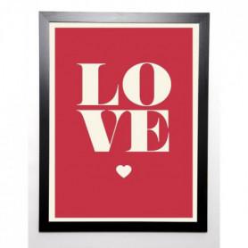 BRAUN STUDIO Image encadrée Love en rouge 57x77 cm