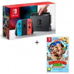 Pack Nintendo Switch Néon + Donkey Kong Tropical Freeze